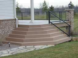 flared deck steps