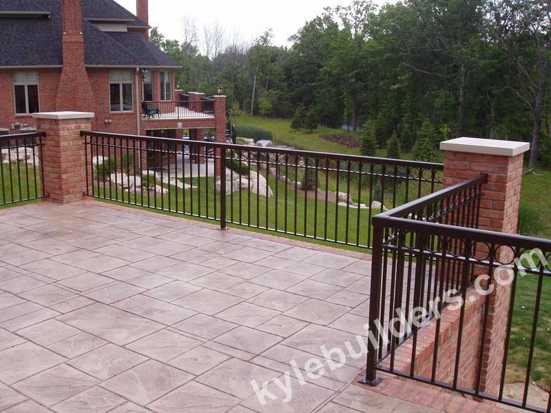 Kyle Builders, Railings for Brick Porches in Michigan